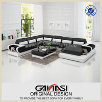 Home furniture living room recliner leather sofa