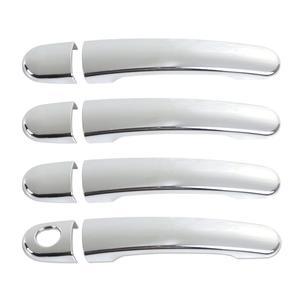 8pcs Keyless ABS Chrome Exterior Door Handle Trim Strips Cover Fit for Volkswagen SANTANA 2013