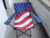 America general use folding flag camping chair,new the USA folding flag national chair for promotion