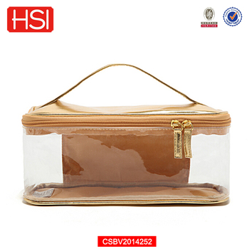 Rose Gold Makeup Case Clear Pvc Cosmetic Bag With Handle - Buy Rose ... 4666cb1ab