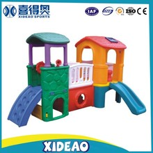 indoor playground equipment kids play house with slides for baby XA-T010