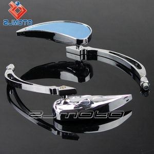 Universal Chrome Motorcycle Cruiser Side Rear View Mirrors 8mm mirror