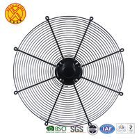 High quality waterproof round black chromed cooling fan cover wire mesh condenser fan guard