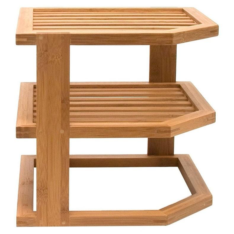 natural de bamb tier esquina estanteria maderade bamb bao esquina estanteria