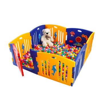 8 panel fashion color stylish outdoor plastic baby playpenbaby play yard