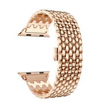 Наручный ремешок для Apple Watch Series 1 2 3 4 5 роскошный ремешок для часов высококачественный металлический браслет из нержавеющей стали для Apple iWatch...(Китай)