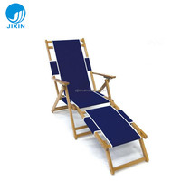 Classic Leisure Adirondack Chaise Lounge flat wooden beach chair