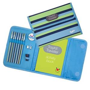 Content&Calm Traveller Journal for Kids (Blue Stripe) by Content&Calm