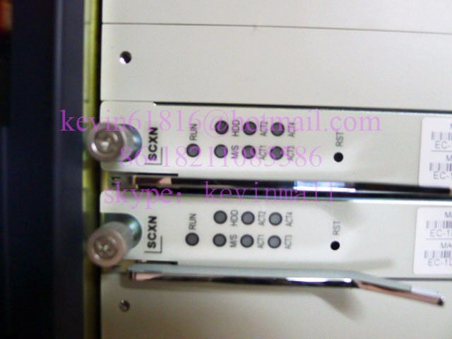 ZTE C300 OLT equipment, EPON or GPON optical line terminal, front chassis with three double configuration