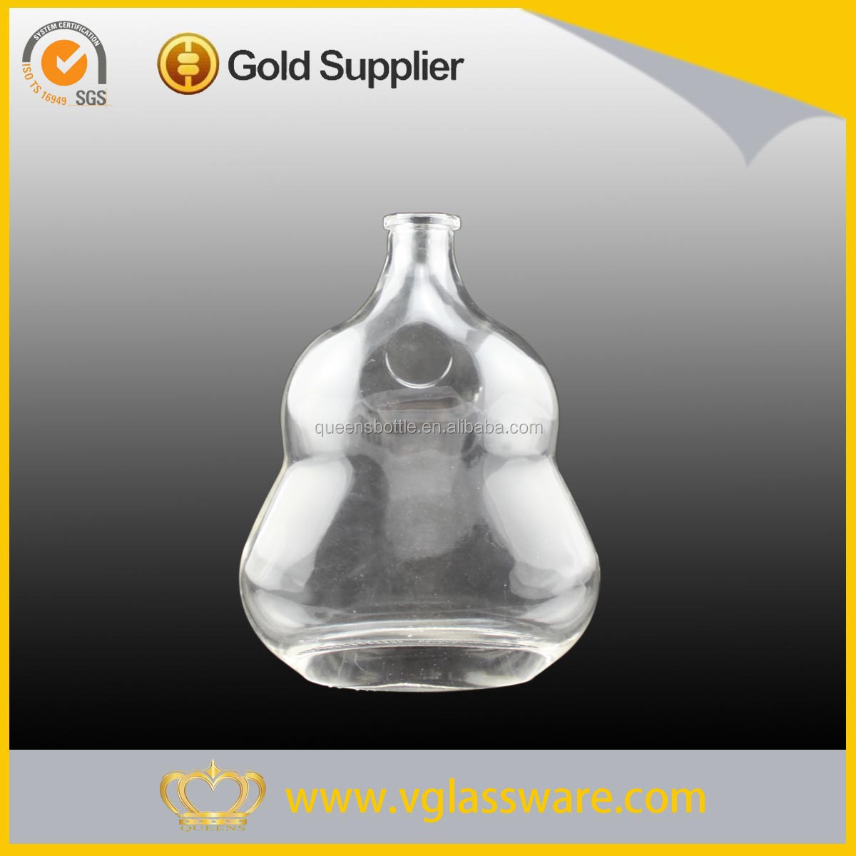 500ml pear shaped whishey glass bottle with cork