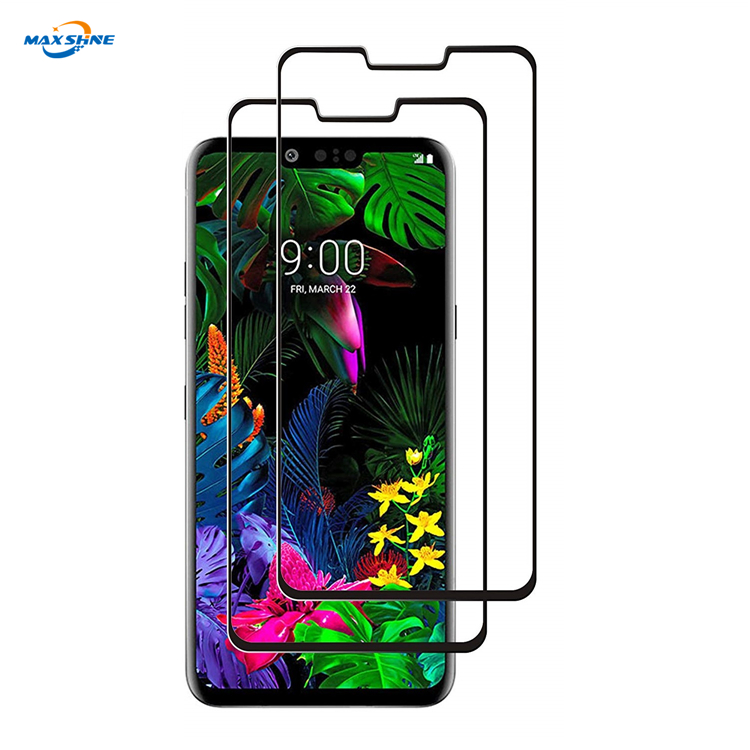 Maxshine 360 Full Cover Silk Print Tempered Glass Protective Screen Protector For Lg G8
