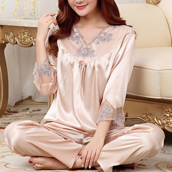 Hot Sale Sexy Pajamas Women Champagne Sleeping Sets Ladies Night Wear c73adee44
