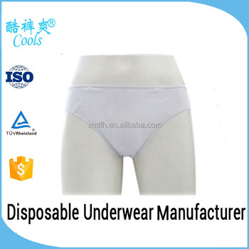 Chinese Factory 100% Cotton Disposable Underwear For Men