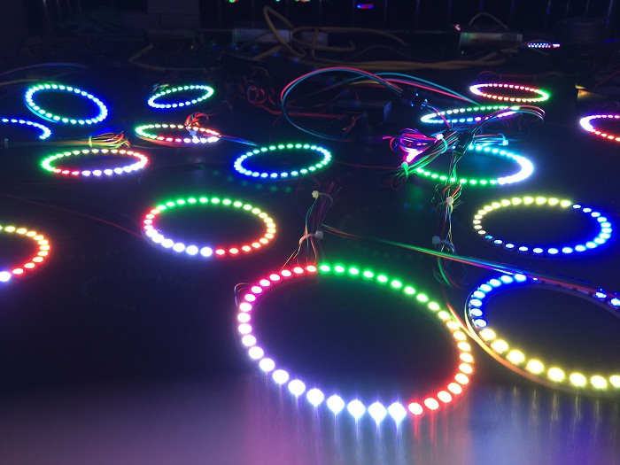 40mm Multi Color Change 5050 Smd Rgb Led Angel Eyes Ring
