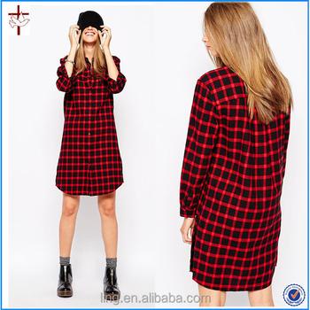 83fa0cafa6 Ladies Fashion Eleven Paris Checked Shirt Dress cheap t shirt dresses