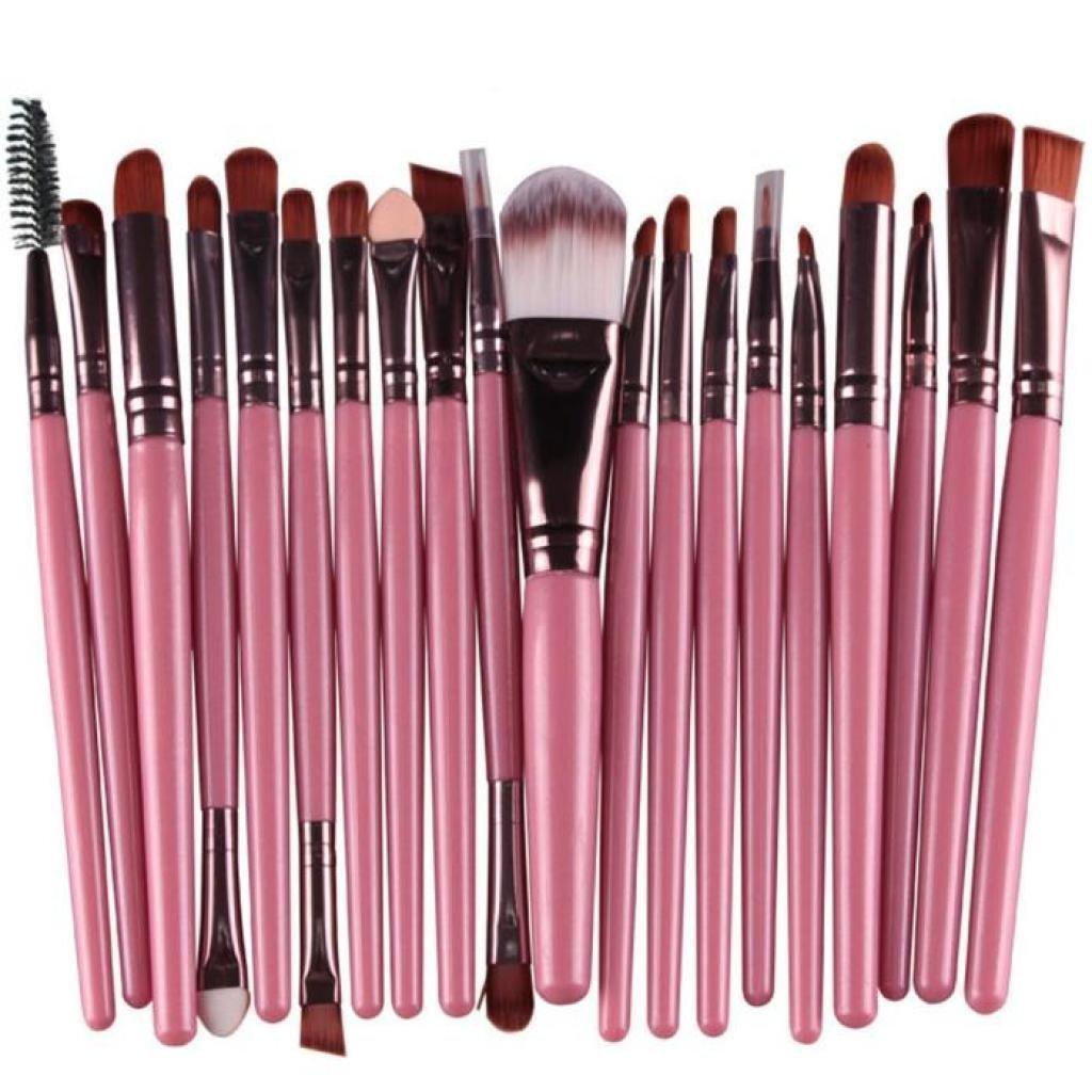 AMA(TM) 20 pcs/set Makeup Brush Set tools Make-up Toiletry Kit Wool Make Up Brush Set (Pink )