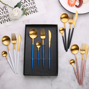 Luxury Italian Stainless Steel Bulk Gold Flatware