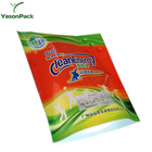Perforation die cut ziplock sachet aluminum stand up washing detergent powder pouches