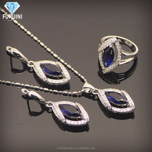 아름다운 china wholesale 925 silver jewelry set includes 펜 던 트 necklace 및 earring 및 링