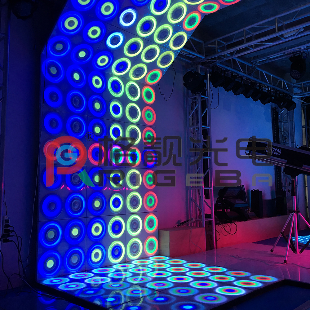 newest patent led dynamic dance floor wall panel stage light