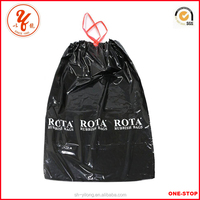 Promotional Recyclable Feature plain drawstring bin bags