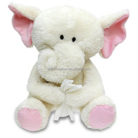 Get Well Soon Patient Gift Custom Cute Soft Plush Toy Kids White Elephant Stuffed Animal