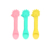 bpa free Food Grade feeding teether Silicone infant Baby Spoon