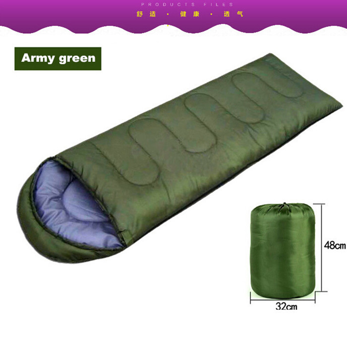 QG8311 Hiking Outdoor Sleeping Bags/winter sleeping bag High quality Cotton Camping sleeping bag for 3 seasons/envelope style/