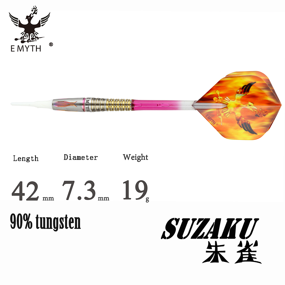 Luxury SUZAKU 90% Tungsten Steel Dart with High end Tungsten barrel,shaft, flight