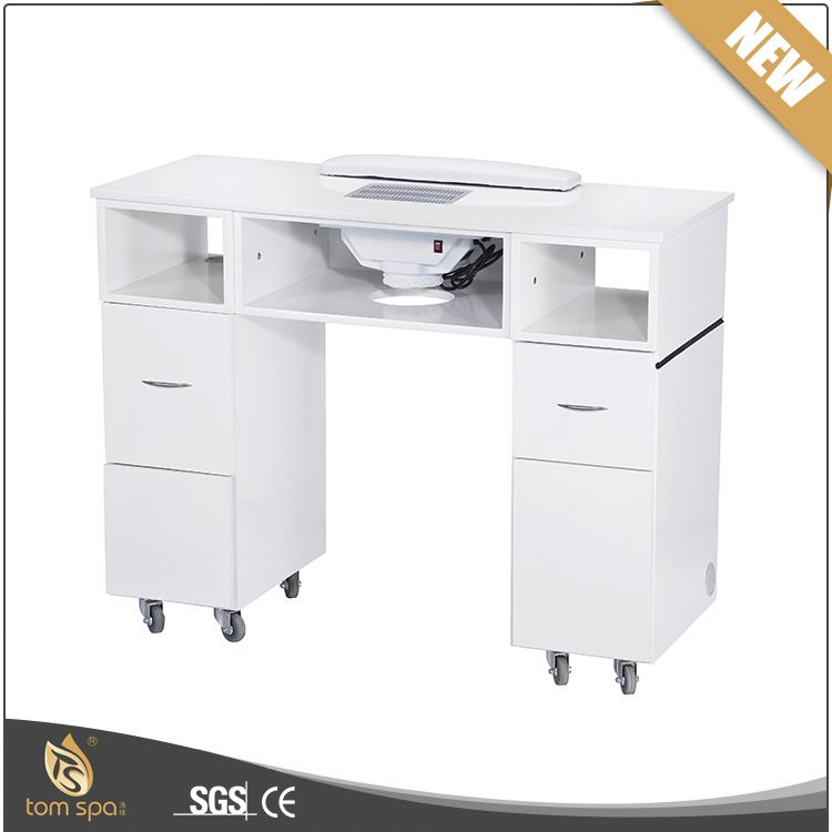 TS-7314 glass furniture used nail salon equipment for nail table