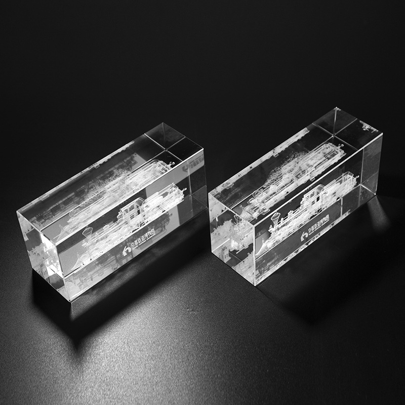 2019 souvenirs crystal block 3D blank laser crystal engraving, glass blank cube 3D crystal laser engraving gifts