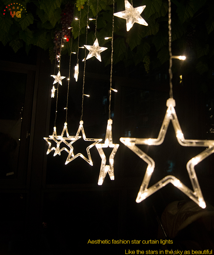 Outdoor Christmas Star Lights Bachelorette Party Decoration Star ...