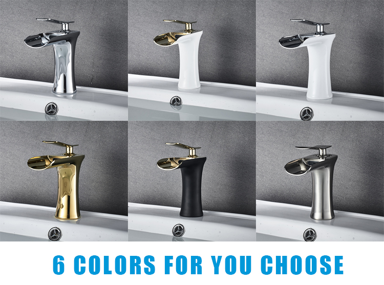 Wholesale bathroom hot cold water mixer tap waterfall basin faucet for bathroom