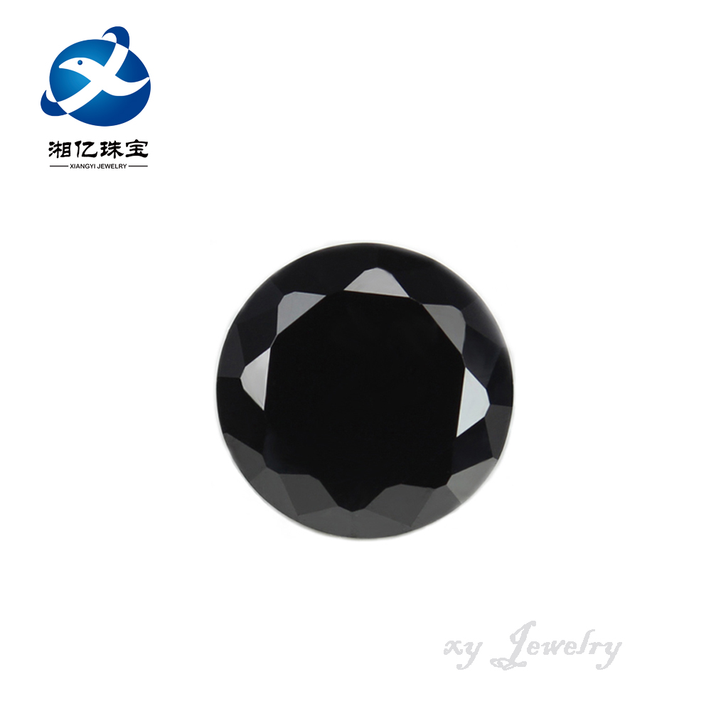 Wholesale 6mm Black Diamond Cut Synthetic Cubic Zirconia Gemstone
