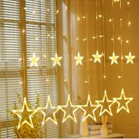 8ft 138LEDs hanging stars decorative LED icicle string light