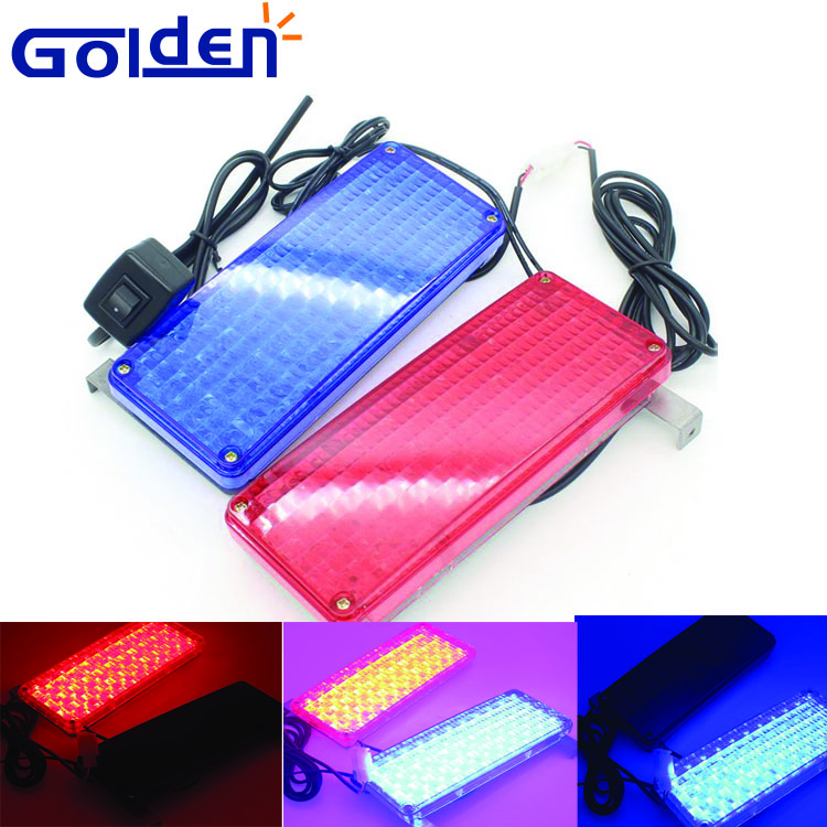 red blue emergency motorcycle strobe kits External flashing led light