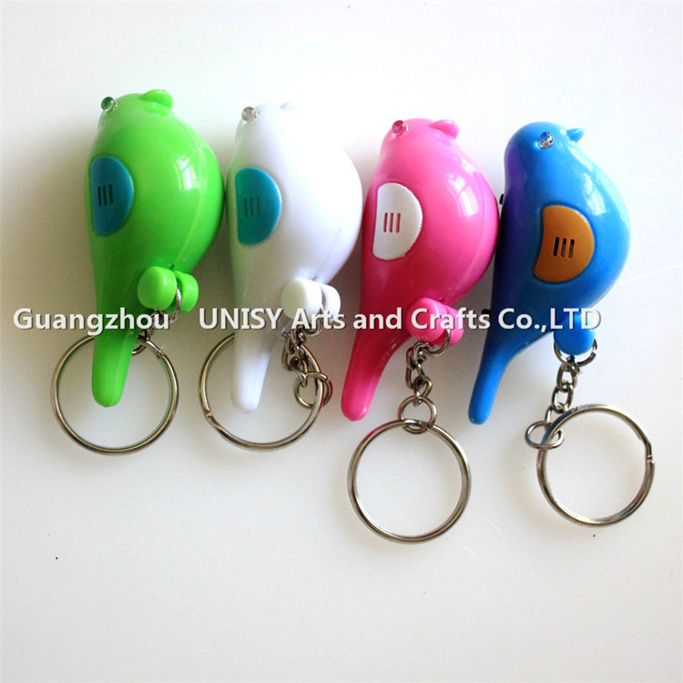 Fashion Bird Shape LED Key Finder Find Lost Key Chain Keychain Whistle Electronic Switch LED Whistle Key Finder