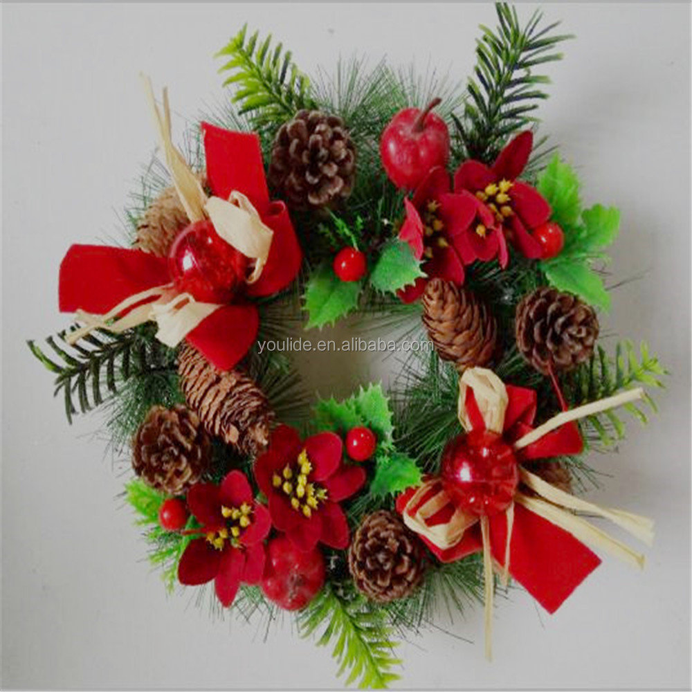 Excellent quality decorative artificial christmas wreath,christmas wreath