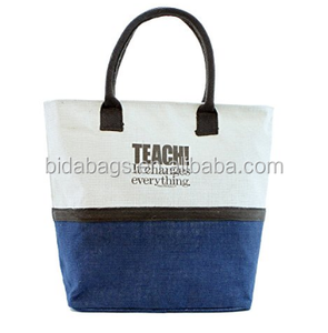 Natural Jute Tote Bag Teacher Gift