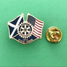 Hot Selling Gold Metal Rotary Flag Lapel Pin