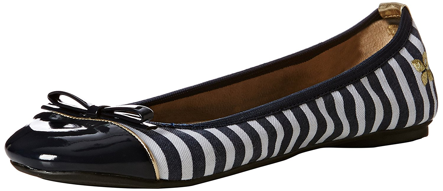 f095a286a2c8 Get Quotations · Butterfly Twists Cara - Folding Ballerina Pumps - Navy    White Stripe