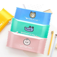 HYS Creative 3D Candy Shape Silicone Bag Funny Silicone Pencil Case