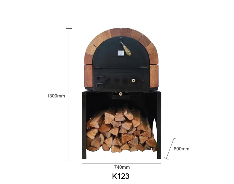 Domestic 2-Layer Woodfire Pizza Oven with Thermometer (No Smoke)
