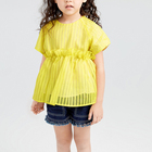 cheap fashion yellow cute boutique 7 years 8 years pretty little kids children clothes girl dresses