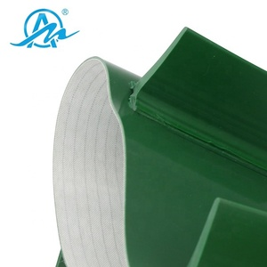 Low price AIMAI design green pvc stop plate conveyor belt for conveyor machine