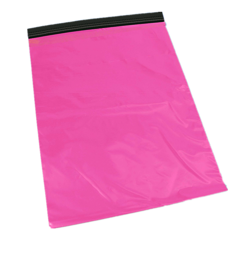Custom a4 10 x 14 poythenestring pink manual mailer making machine transparent clutch envelope