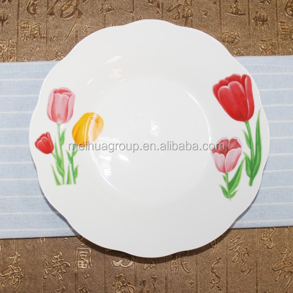 Cheap Hotel&restaurant use unique design porcelain ceramic soup plate