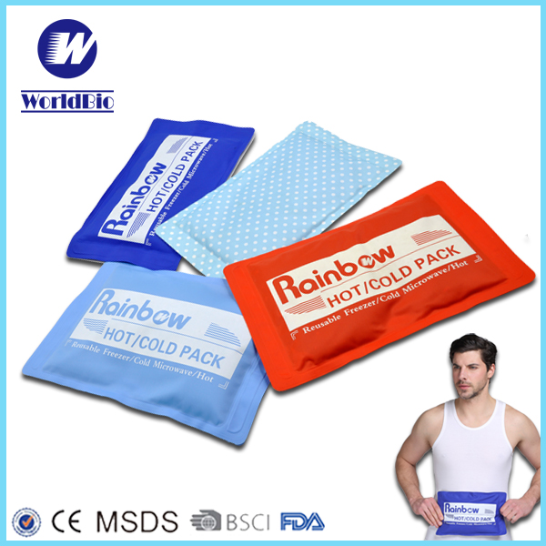 PVC microwavable gel heat packs with wrap