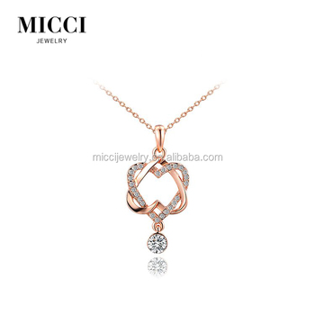 New model couple pendant romantic love meaning gift double heart new model couple pendant romantic love meaning gift double heart jewellery pendant necklace mozeypictures Image collections