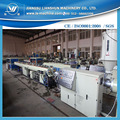 PP PE plastic pipe production line with two extruder line
